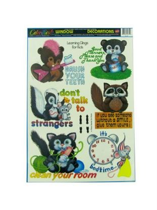 Picture of Children's window clings, learning manners (Available in a pack of 30)