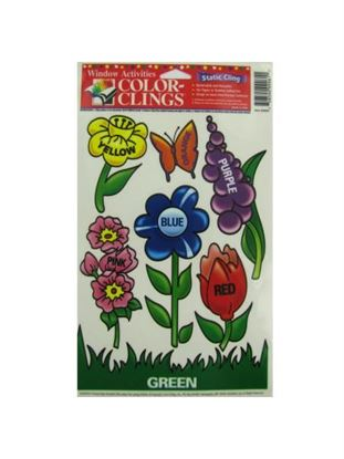 Picture of Flowers window clings (Available in a pack of 24)