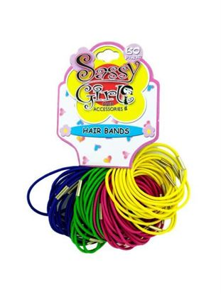 Picture of Bright elastic hair bands (Available in a pack of 24)