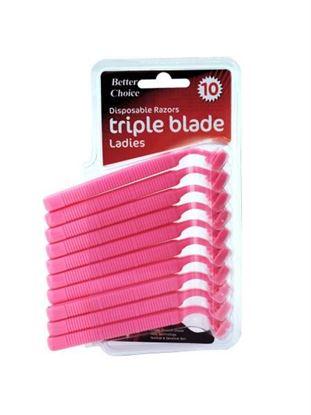 Picture of 10 pack ladie's disposable triple blade razors (Available in a pack of 12)