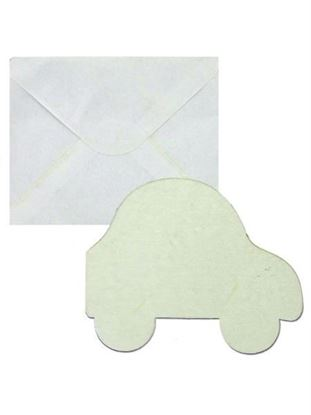 Picture of Blank White Car-Shaped Card Set (Available in a pack of 20)
