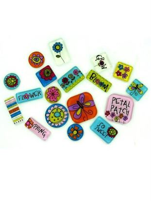 Picture of 18 Color Me Spring Expressions Tiles (Available in a pack of 24)