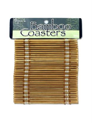 Picture of Bamboo coasters (Available in a pack of 24)